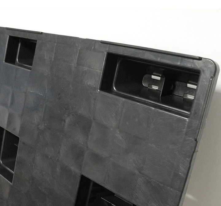 Pallet encajable REP 1200x800 liso 9 pies - Pata encajable | Ribawood