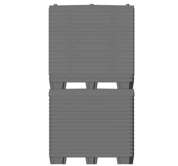 BOX TP CONTENEDOR 1200x800 o 1200x1000 9 pies o 3 patines entrega estándar