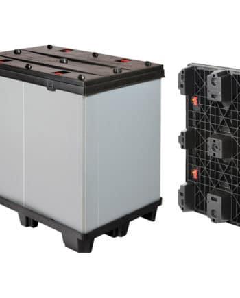 BOX TP CONTENEDOR PLÁSTICO PLEGABLE 1200x800 9 pies o 3 patines Ribawood