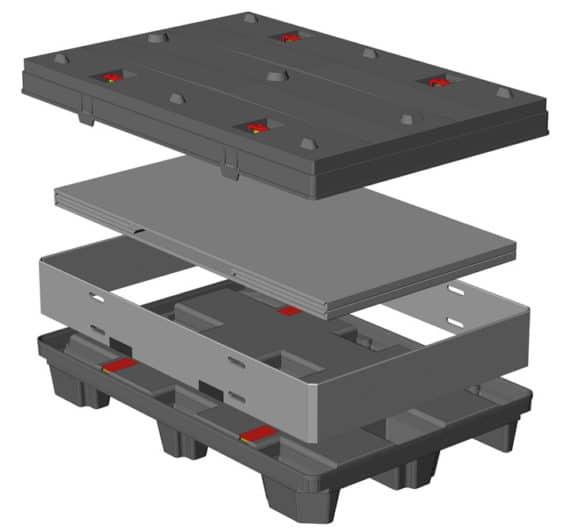 BOX TP CONTENEDOR 1200x800 9 pies o 3 patines sistema sándwich