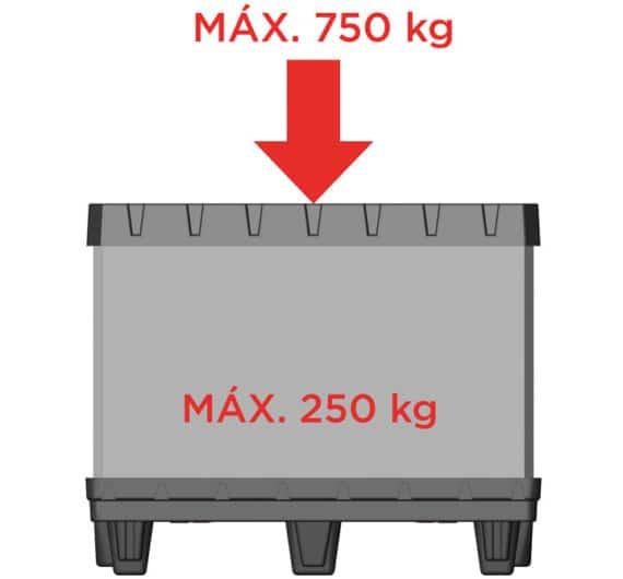 BOX TP CONTENEDOR 800x600 6 pies carga máxima