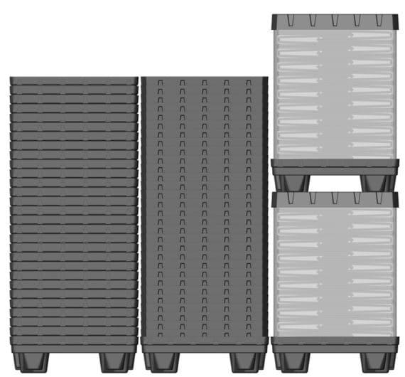 Box TP Contenedor plástico 800x600 mm sistema de retorno de mercancía | Ribawood
