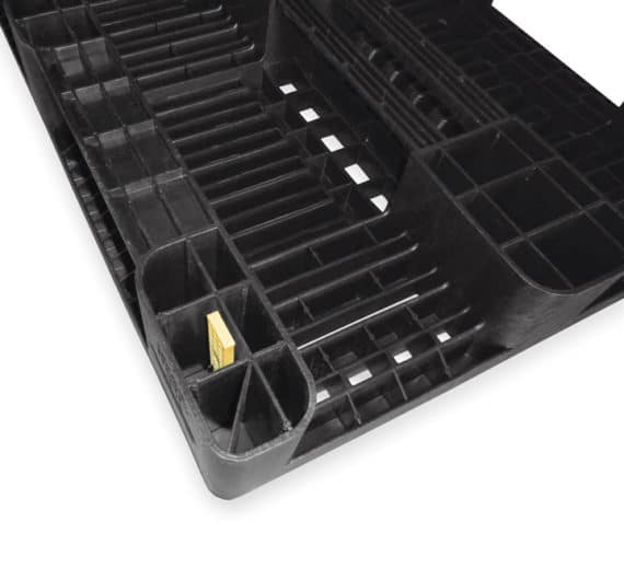 Pallet tipo H1 1200x800 3P PERFORADO reciclado l RFID