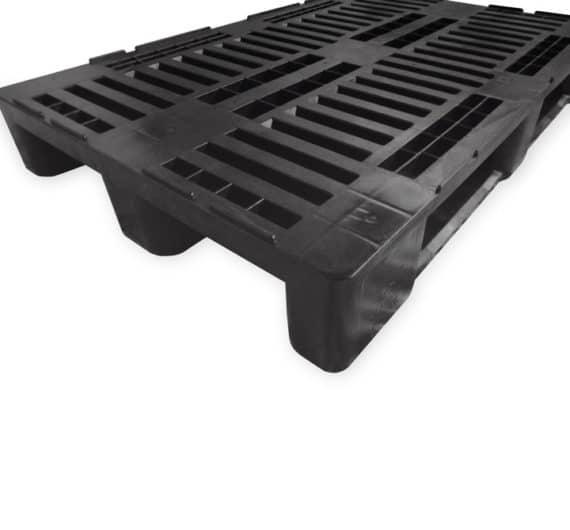 Pallet tipo H1 1200x800 3P PERFORADO reciclado l superficie