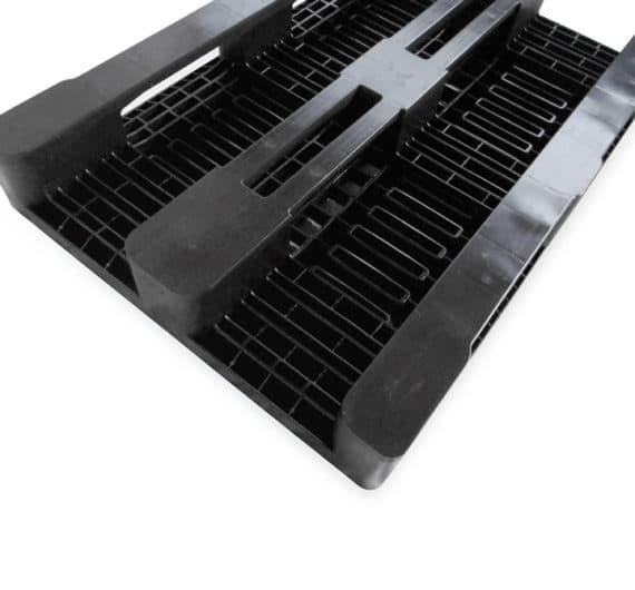 Pallet tipo H1 1200x800 3P PERFORADO reciclado l base lisa