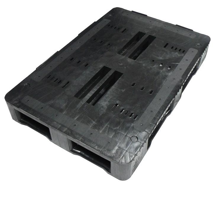 Palet RGP 1200x800 semi liso 5PATINES antracita superficie Ribawood
