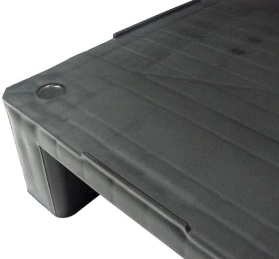 Palet RGP 800x600 LISO 2PATINES antracita perímetro Ribawood