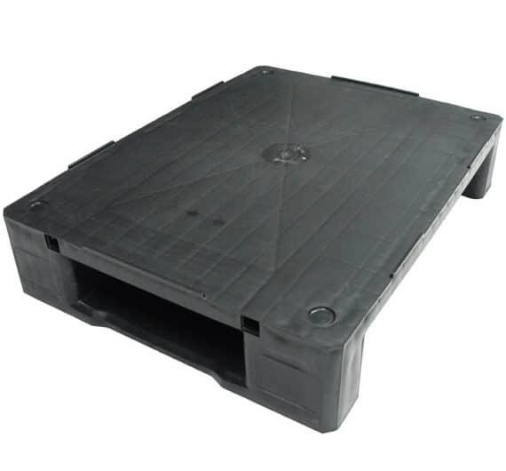 Palet RGP 800x600 LISO 2PATINES antracita superficie Ribawood