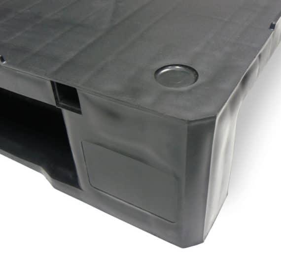 Palet RGP 800x600 LISO 2PATINES antracita personalización Ribawood