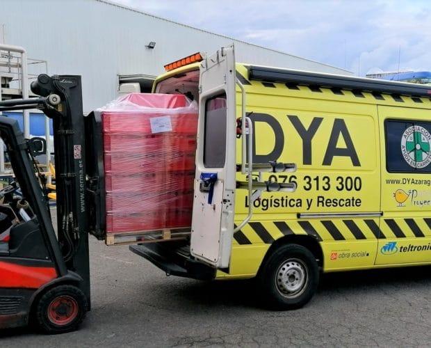 Cajas de plástico donadas a DYA-4