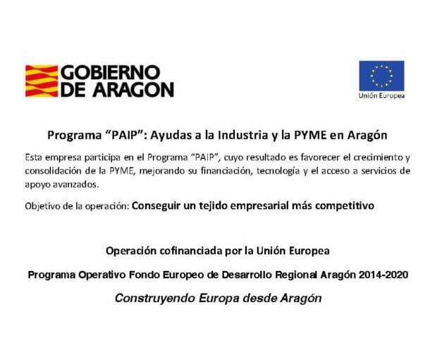 Programa de ayudas a la industria y la PYME en Aragón (PAIP)
